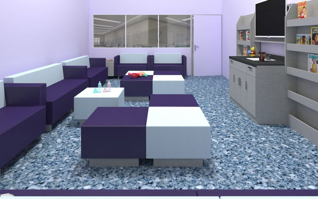 würk in style – würk Lounge, laminate & custom products in hospital waiting area